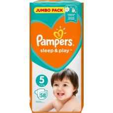 Pampers Sleep & Play Подгузники Junior 5 (11-16 кг), 58 шт