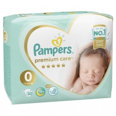 Pampers Premium Care Подгузники Newborn 0 (1,5-2,5 кг) 30 шт