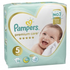 Pampers Premium Care Подгузники Junior 5 (11+ кг), 28 шт