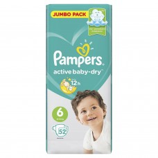 Pampers Подгузники Active Baby-Dry Extra Large 6 (13-18 кг) 52 шт