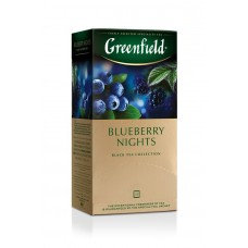 Greenfield Чай черный Blueberry Nights, 25 пак