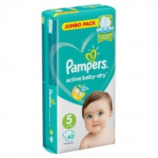 Pampers Подгузники Active Baby-Dry Junior 5 (11-16 кг) 60 шт