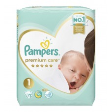 Pampers Premium Care Подгузники Newborn 1 (2-5 кг) 72 шт