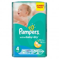 Pampers Подгузники Active Baby-Dry Maxi 4 (9-14 кг) 70 шт
