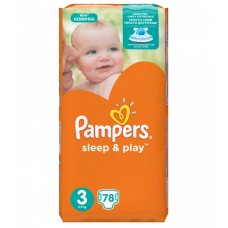 Pampers Sleep & Play Подгузники Midi 3 (5-9 кг), 78 шт