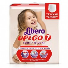 Libero Трусики Up&Go Extra Large Plus 7 (16-26 кг) 56 шт
